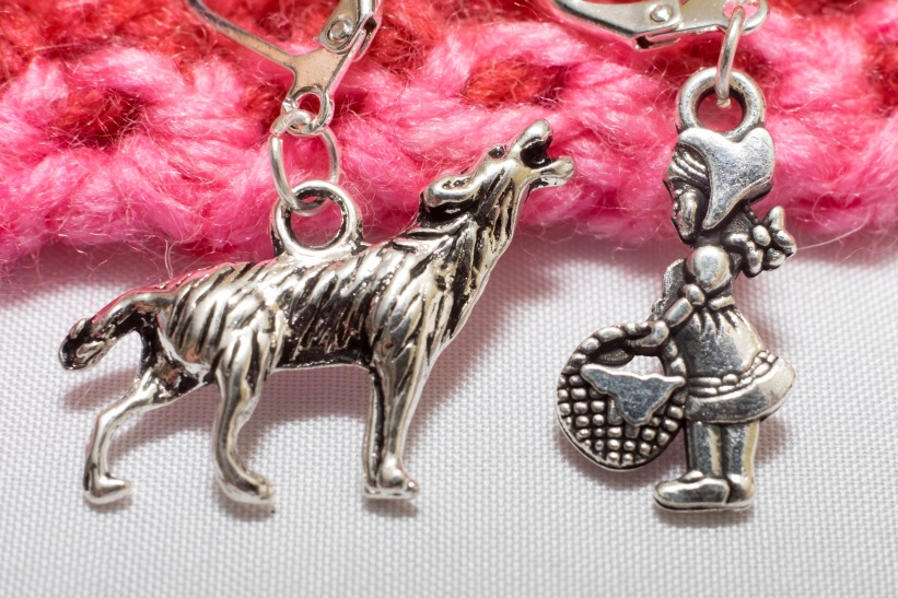 Wolf and Little Red Riding hood stitch markers
