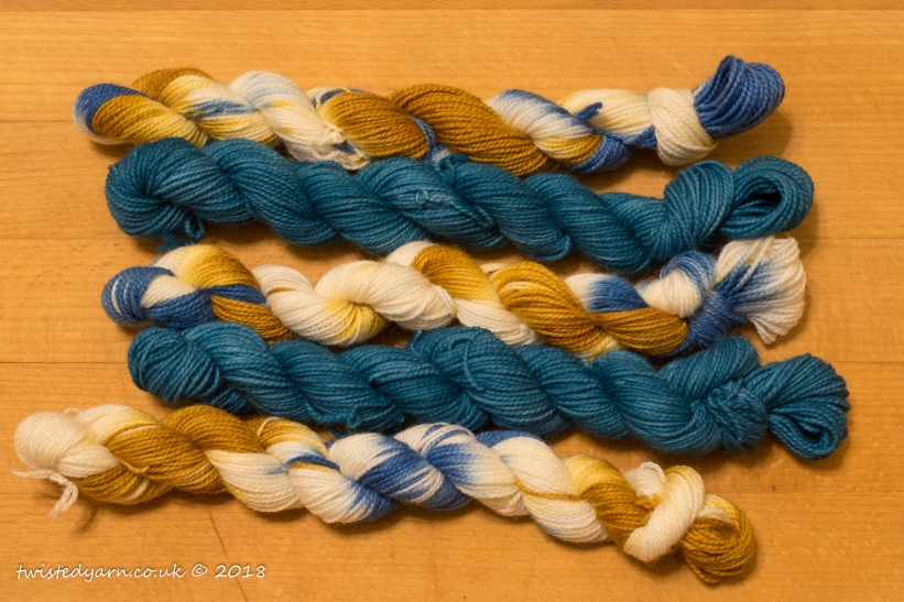 Luke's Going For Gold & Pacific Mini Skeins Sock 4