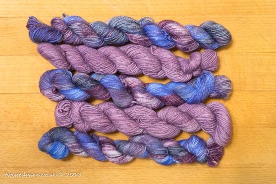 Nebula & Purple Haze Mini Skein Set Sock