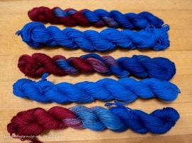Time Traveller Blue & Circulation Mini Skeins Sock 2