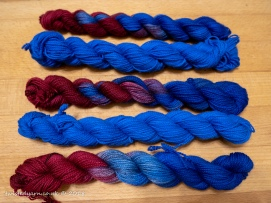Time Traveller Blue & Circulation Mini Skeins Sock 2