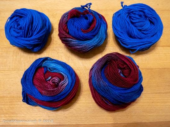 Time Traveller Blue & Circulation Mini Skeins Sock